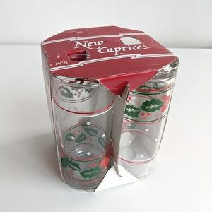 New In Box Vintage Christmas Glasses Tumbler